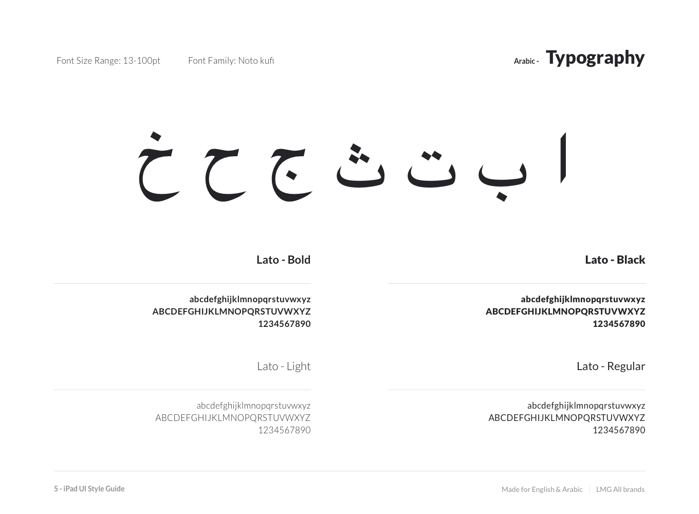 Typography – Arabic